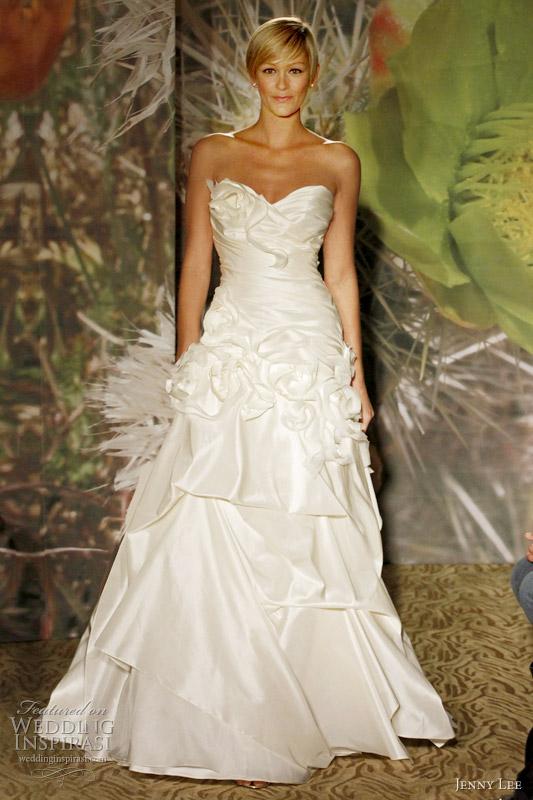 Wedding Dress With Pick Up Skirt 9 Amazing jenny lee wedding dresses