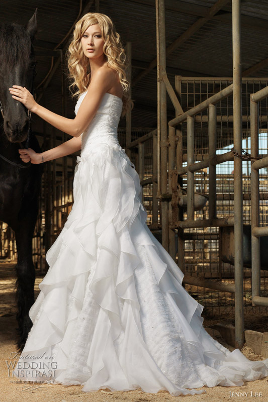 Wedding Gown Ruffles