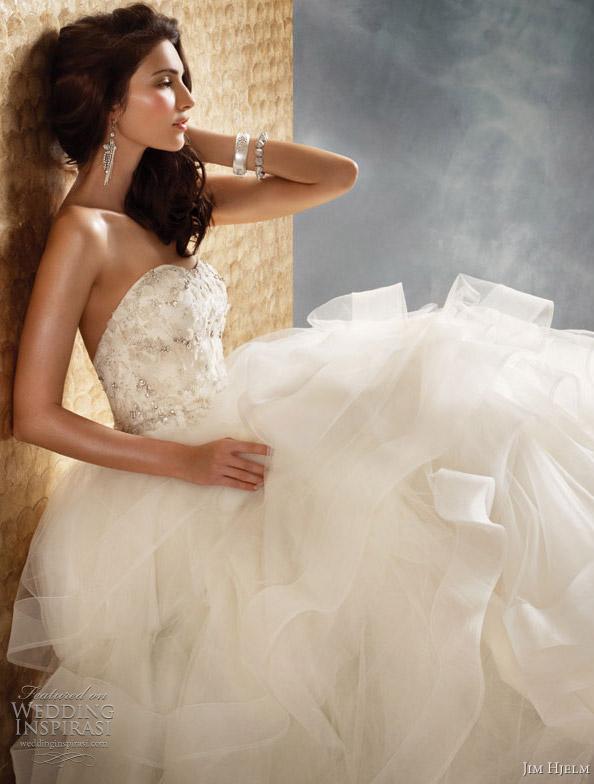 Organza And Tulle Wedding Dresses 9 Vintage jim hjelm wedding dress