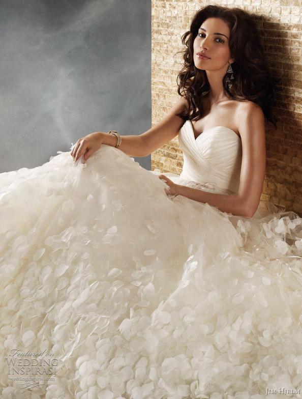 jim hjelm wedding dresses 2011 - style 8157