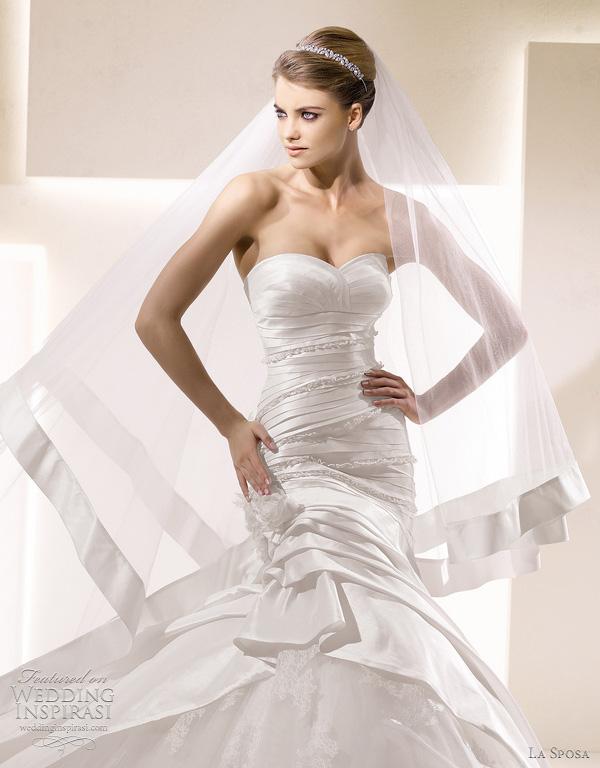 la sposa 2012 wedding veils - Sandra wedding dress