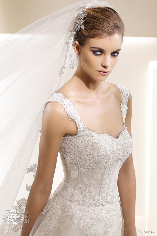 la sposa bridal wedding dresses - Selva gown closeup