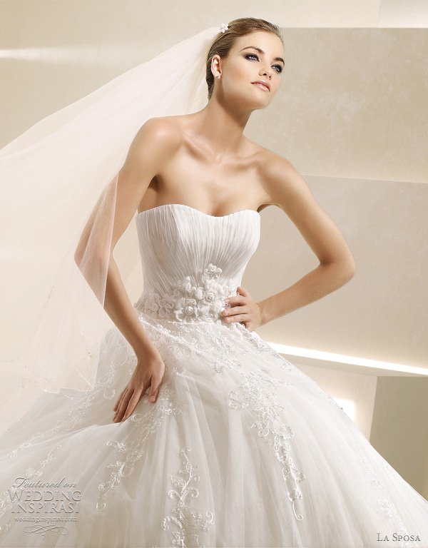 la sposa sandalo wedding dress
