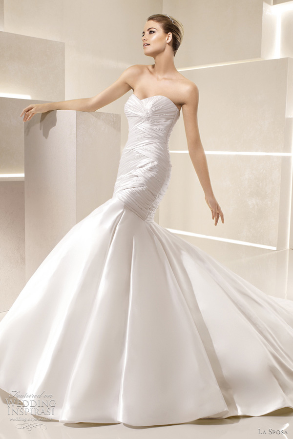 la sposa wedding dress 2012 - samba bridal gown