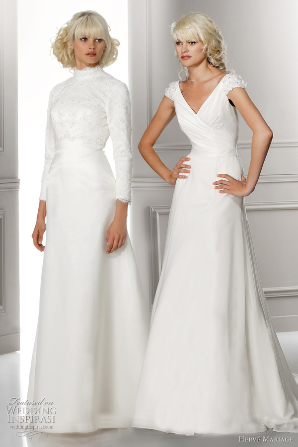 modest wedding dresses with sleeves Love and Liberte