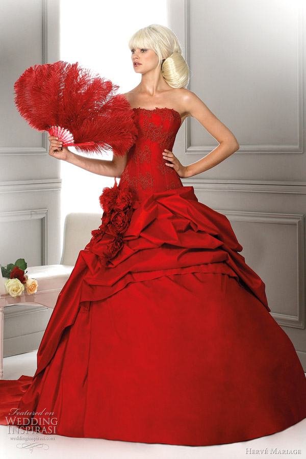red wedding dress 2012 - Louisiane