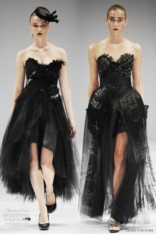 trash couture wedding dresses spring black swan ballet inspired bridal looks