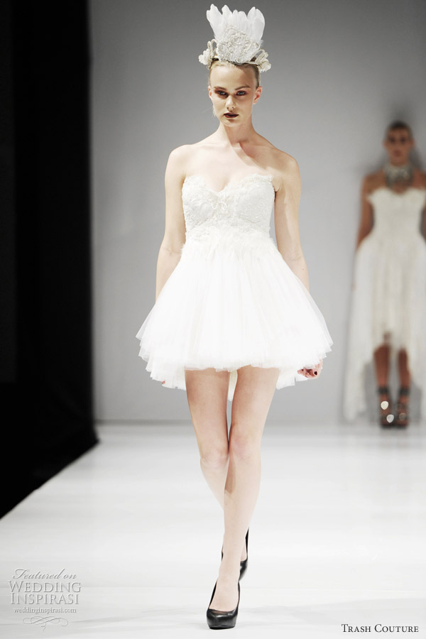 Short Couture Wedding Dresses 47 Beautiful white swan wedding dress
