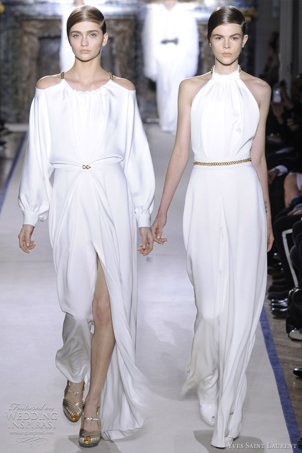 White Jumpsuits For Wedding Jumpsuit in White Satin Crêpe