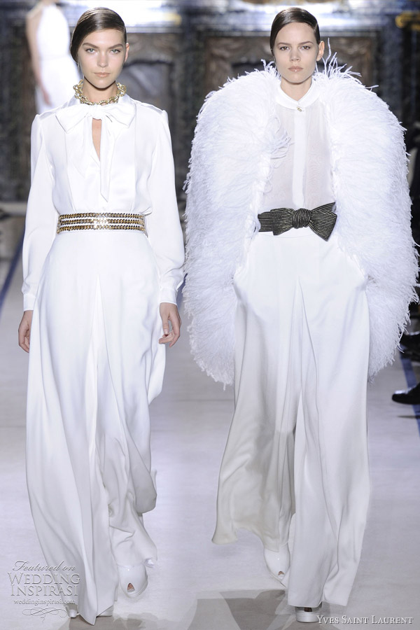yves saint laurent wedding dresses 2011 2012