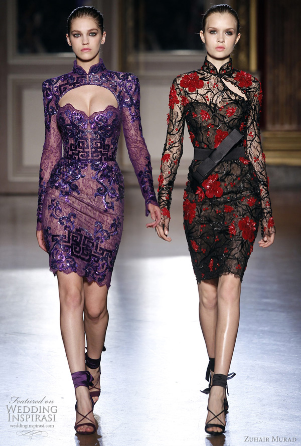 zuhair murad couture short dresses