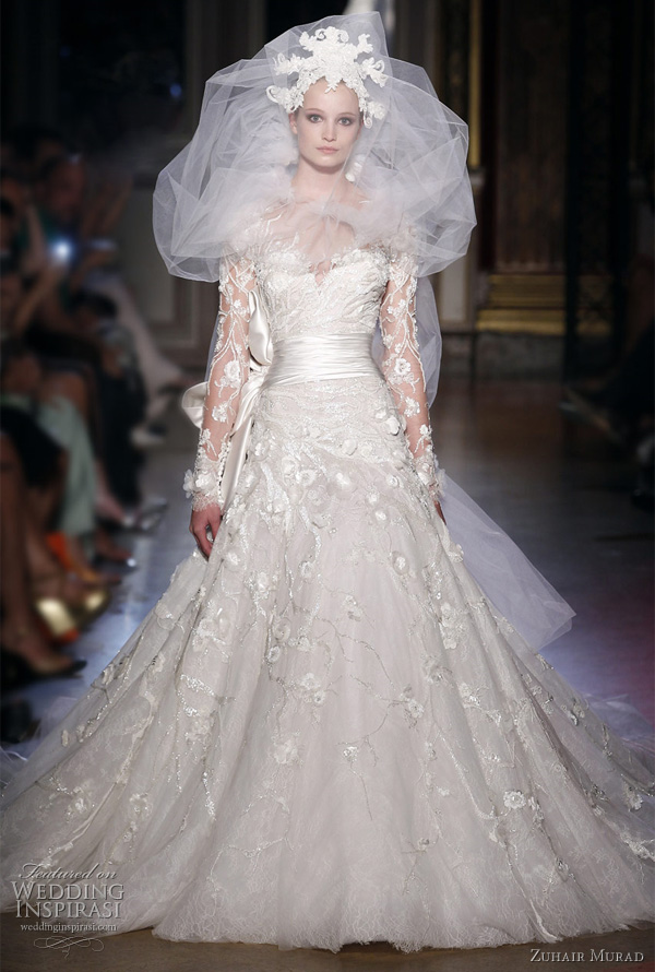 Zuhair murad fall winter 2011 2012 couture wedding inspirasi for Zuhair murad wedding dress