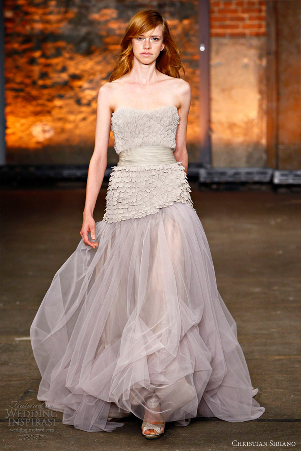 christian siriano wedding dress 2012