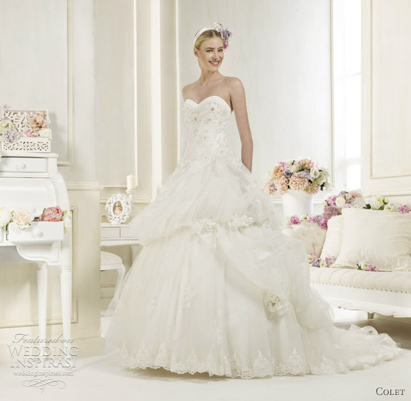 colet ball gown wedding dresses 2012