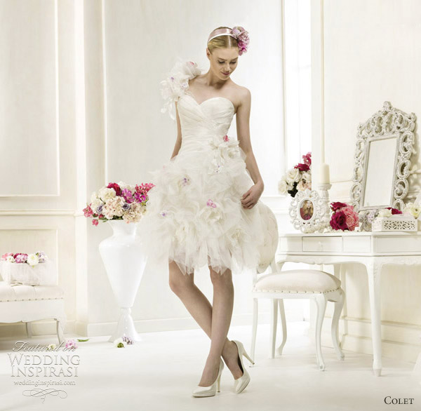 colet short wedding dresses 2012