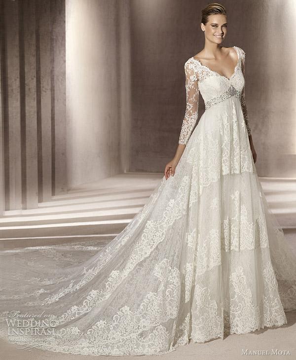 Drop Sleeve Wedding Gowns With: Manuel Mota Wedding Dresses 2012