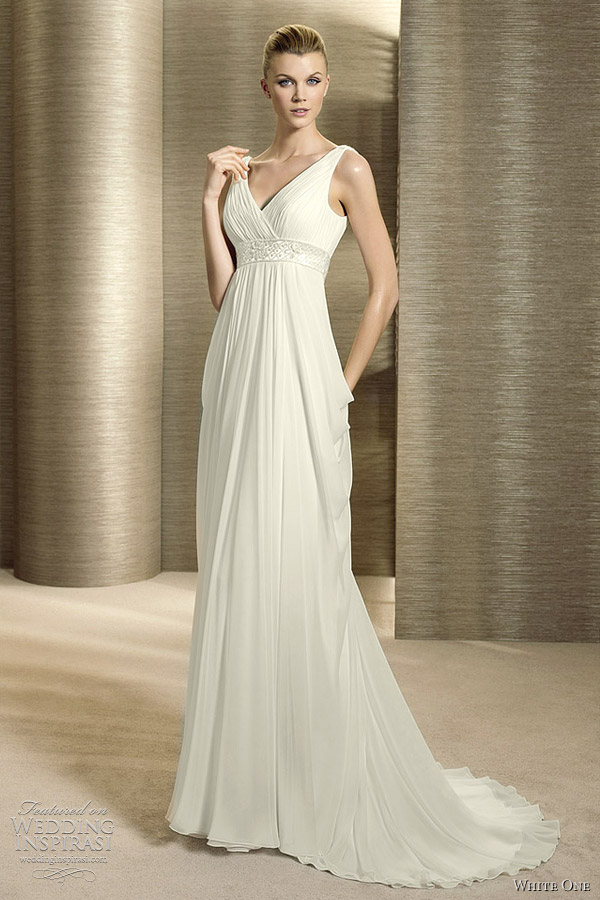 grecian wedding dresses white one