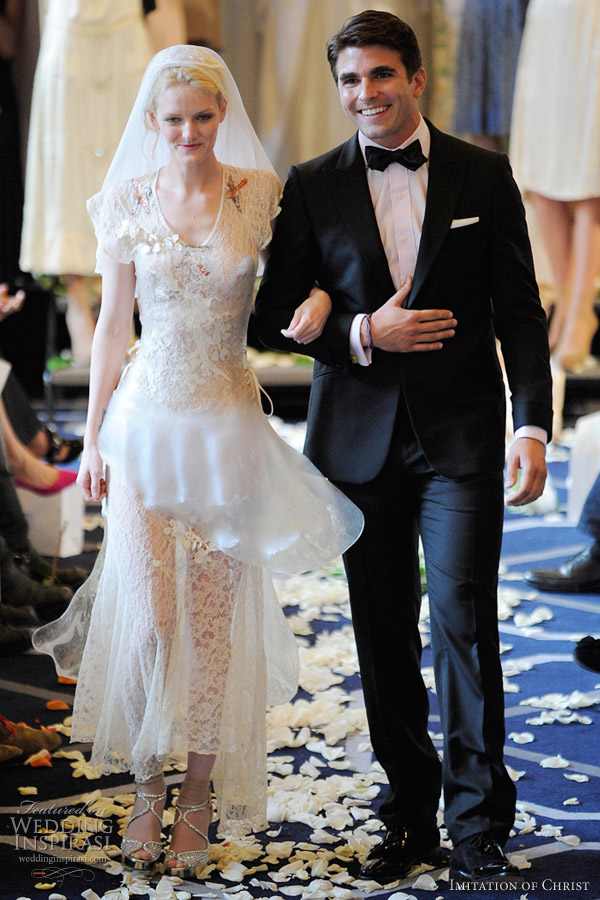 imitation of christ wedding dress spring 2012
