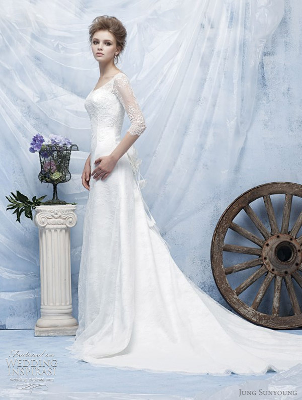jung sun young korean wedding dresses