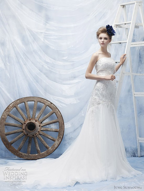 jung sun young wedding dresses