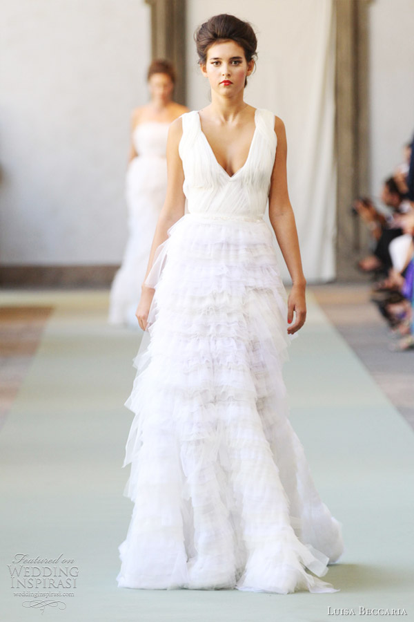 Luisa Beccaria Spring 2012 Ready To Wear Wedding Inspirasi