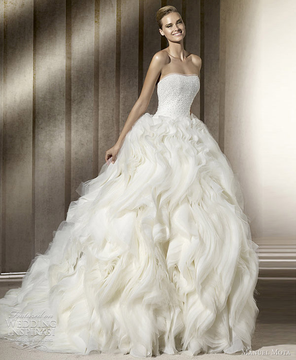 Dramatic Ball Gown Wedding Dresses: Manuel Mota Wedding Dresses 2012
