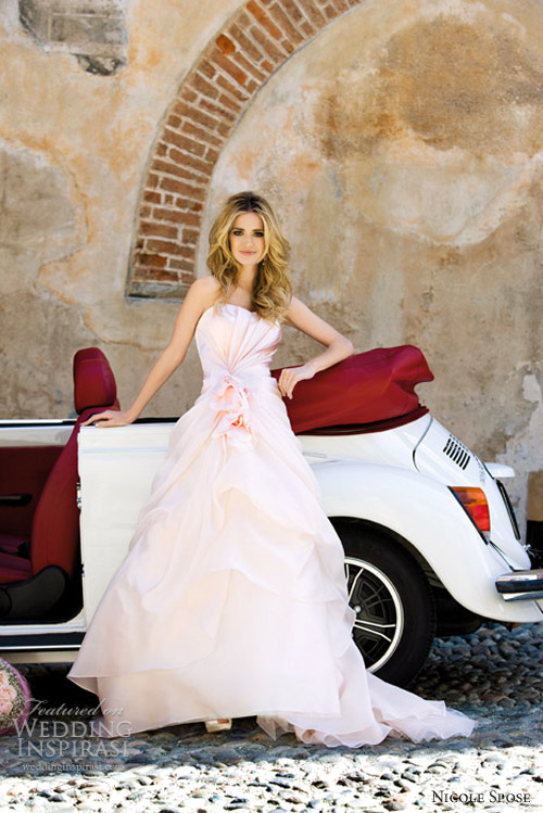 nicole spose 2012 pink wedding dress