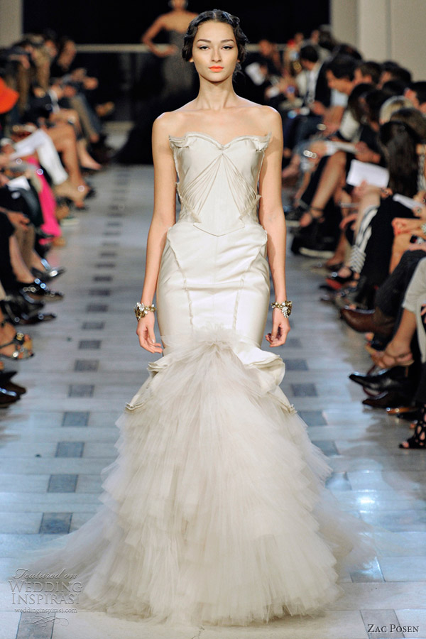 Zac posen spring 2012 ready to wear wedding inspirasi for Zac posen wedding dress price