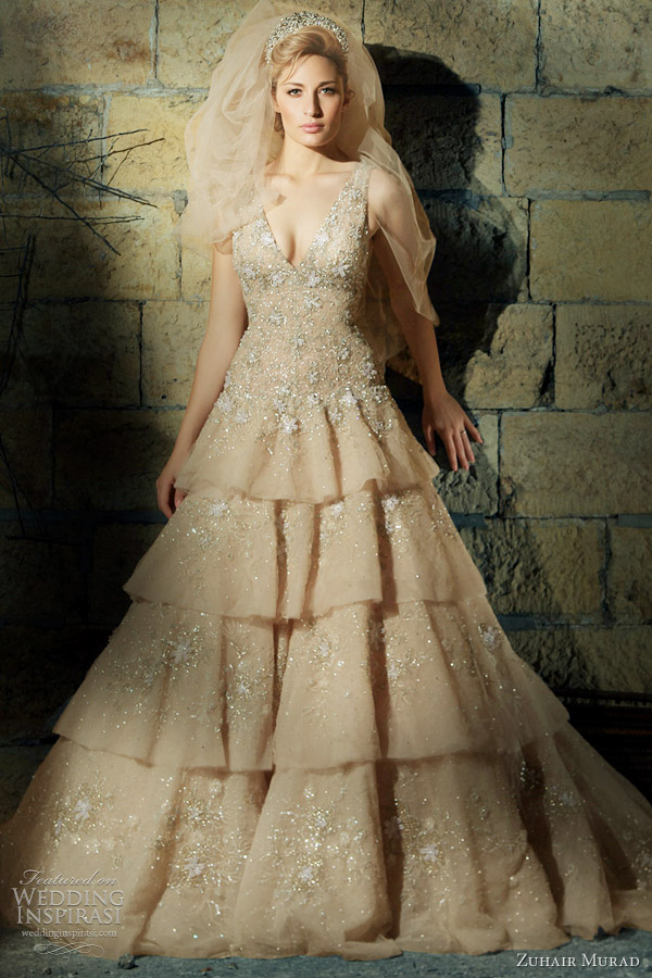 zuhair murad wedding dress color
