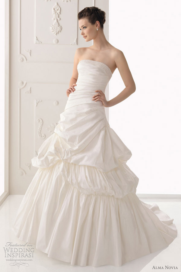alma novia ball gown wedding dresses 2012 - segovia