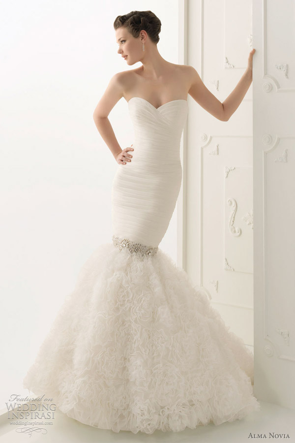 Mermaid Wedding Dresses 2012