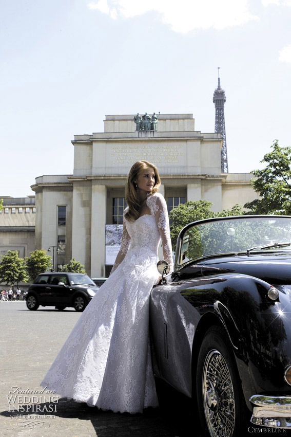 cymbeline france wedding dress 2012 - France long sleeve bridal gown