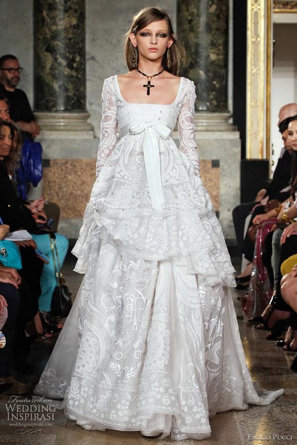emilio pucci wedding dress 2012