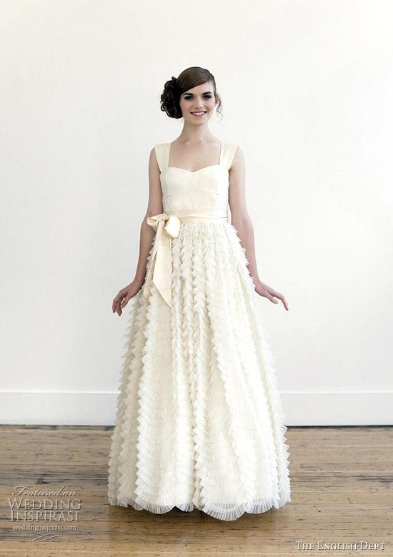 english dept 2012 wedding dresses - Tea/Blush