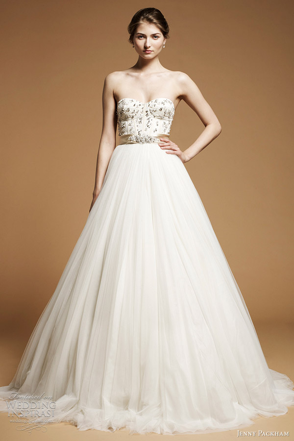 jenny packham 2012 bridal Anya ball gown wedding dress