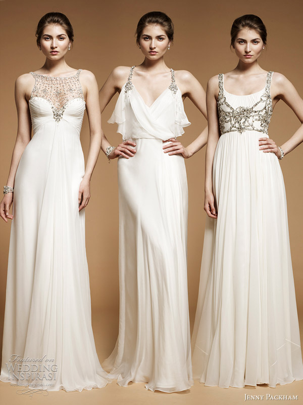 jenny packham wedding dresses 2012 - Dahlia, Laurel, Ormlie gowns with embellished straps