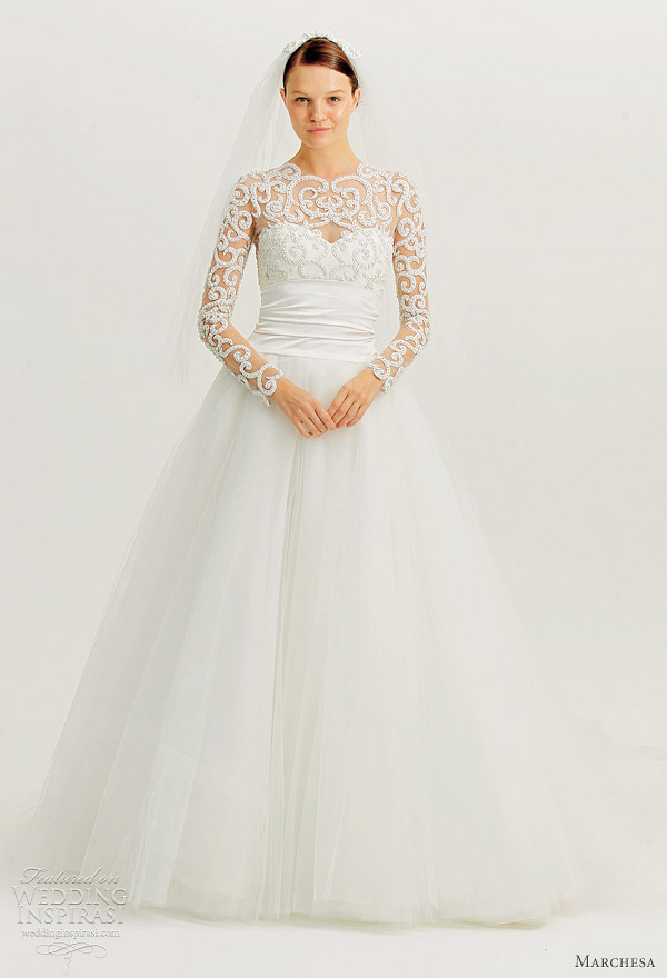 Marchesa Fall 2012 Wedding Dresses Wedding Inspirasi