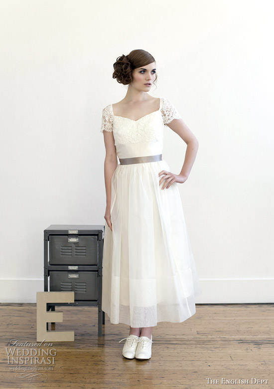 tea length wedding dress 2012 - The English Dept. Dusk