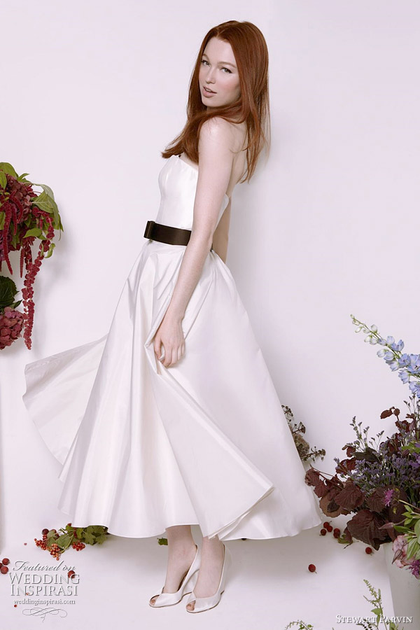tea length wedding dress stewart parvin