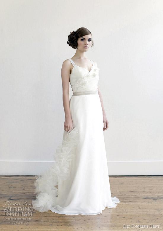 Alabaster Wedding Dress 6 Unique the english dept bridal