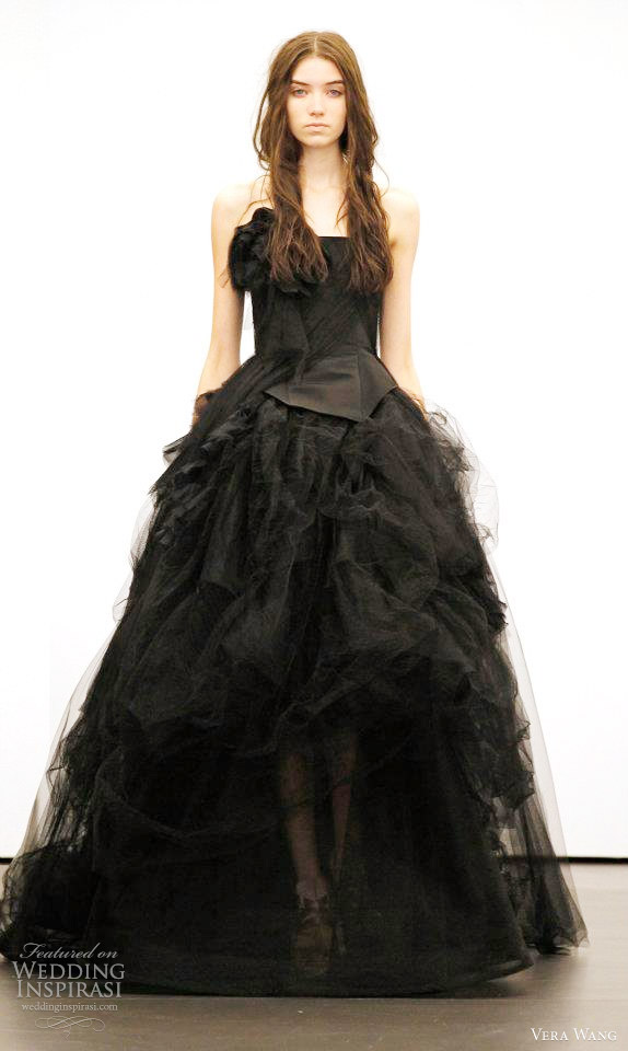 vera wang black wedding dresss 2012
