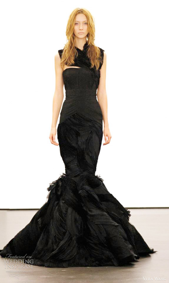vera wang fall 2012 black wedding dress