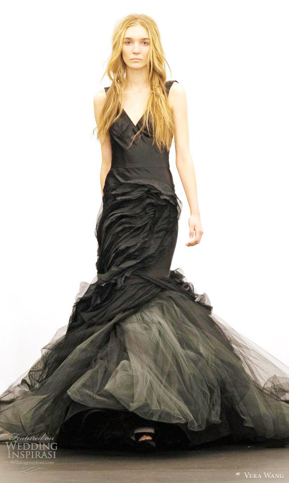 vera wang fall 2012 black wedding dresses