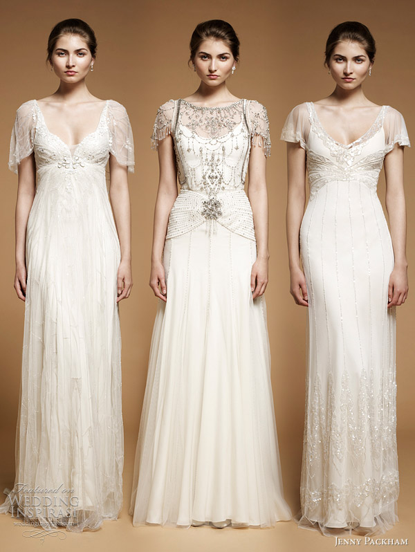 wedding dresses with sleeves jenny packham 2012 - Parma Opal, Damask, Foxglove bridal gowns