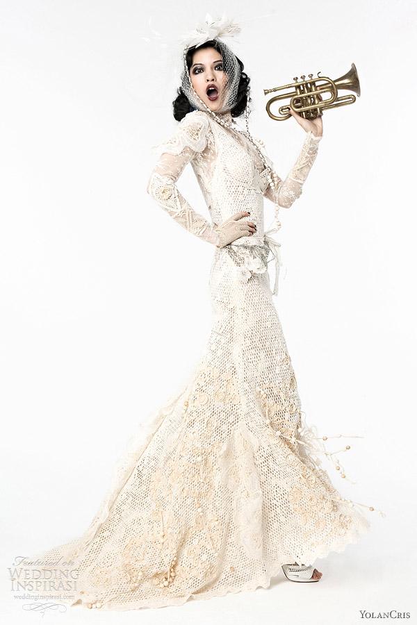 Yolancris Long Sleeve Wedding Dress : Yolancris wedding dresses lumi?re bridal collection