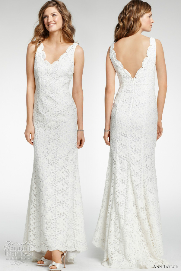 ann taylor all over lace wedding dress