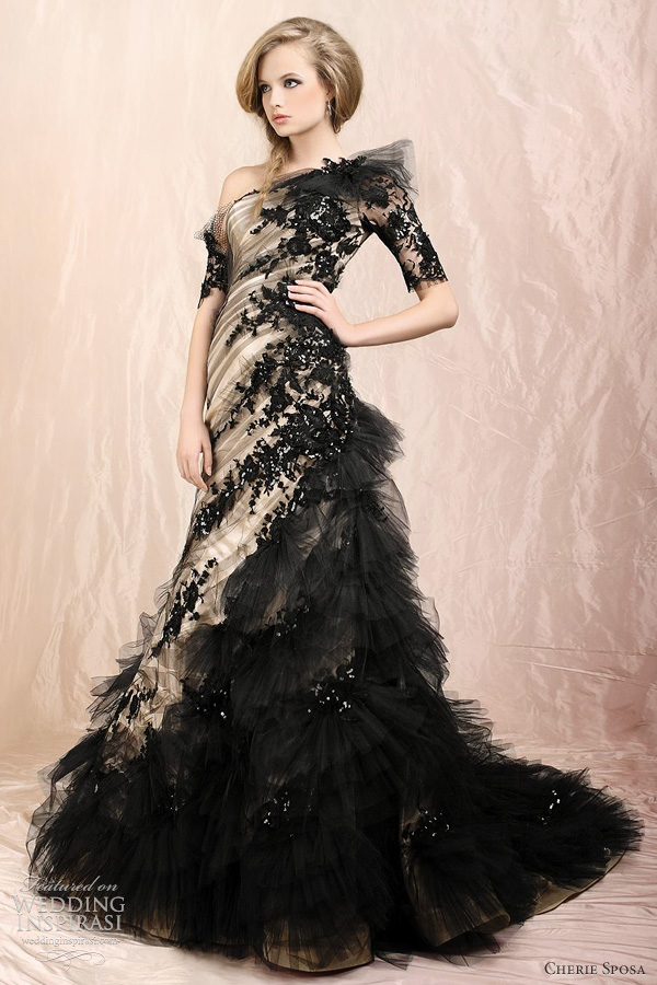 Cherie sposa wedding dresses 2012 wedding inspirasi for Images of black wedding dresses