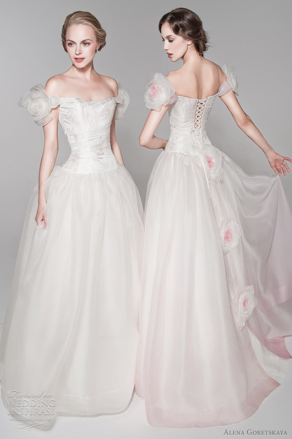 color wedding dresses 2012