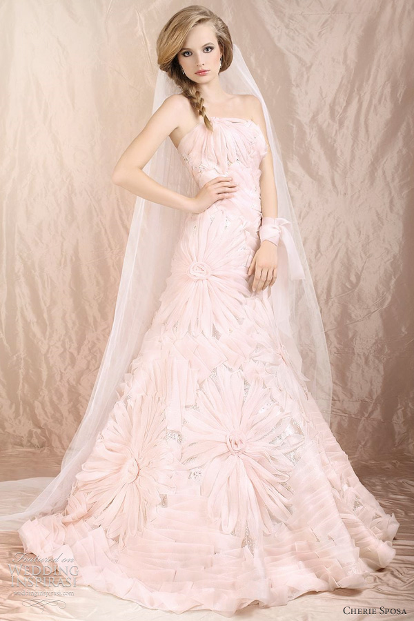 flower wedding dress 2012
