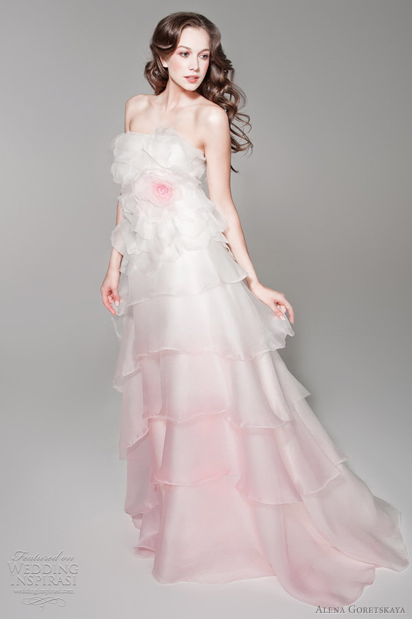Alena goretskaya wedding dresses 2012 wedding inspirasi for Pink ombre wedding dress